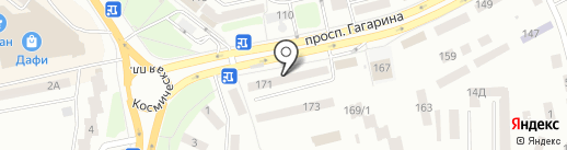 КРЕДИ АГРИКОЛЬ БАНК на карте Днепропетровска