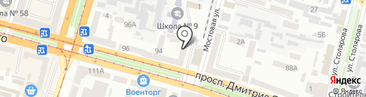Ощадбанк на карте Днепропетровска