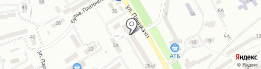 Банкомат, Банк Кредит Днепр на карте Днепропетровска