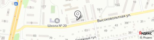 Жовтневий районний центр зайнятості м. Дніпропетровська на карте Днепропетровска