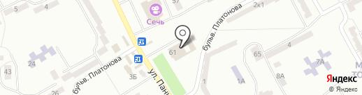 Авангард на карте Днепропетровска