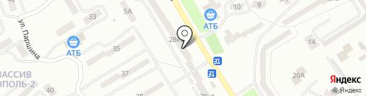 За рулем на карте Днепропетровска