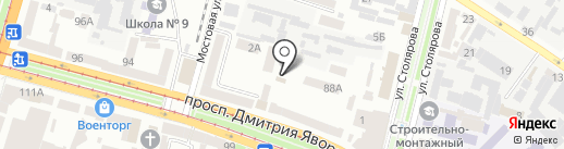 Житлове господарство Кіровського району на карте Днепропетровска