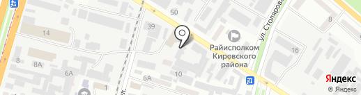 Меркурий на карте Днепропетровска