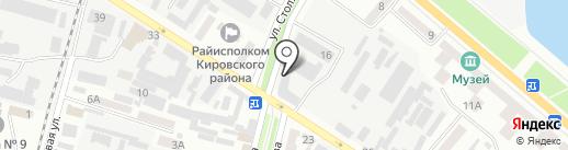 Дніпропетровські міські електричні мережі на карте Днепропетровска