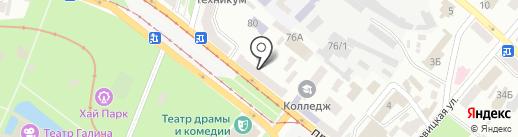 Диамеб на карте Днепропетровска