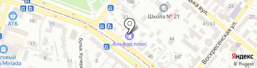 АЗС Юкон на карте Днепропетровска