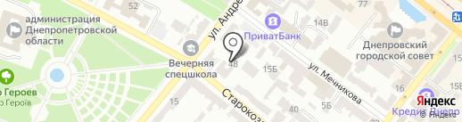 Инсервисавто на карте Днепропетровска
