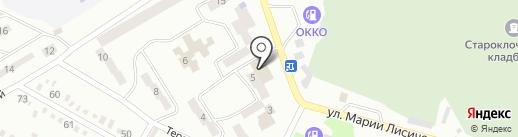 Метелица на карте Днепропетровска