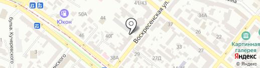 Альминский камень, ЧАО на карте Днепропетровска