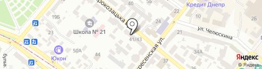 Продуктовый магазин на карте Днепропетровска