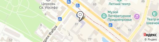Тураэро на карте Днепропетровска