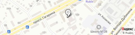 Энерджи на карте Днепропетровска