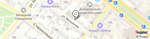 Транспортна інфраструктура на карте Днепропетровска