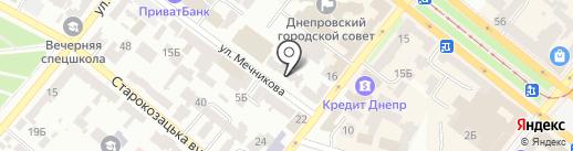 Авиталь на карте Днепропетровска