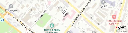Буфет на карте Днепропетровска