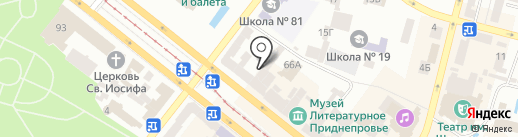 КБ Финансовая инициатива на карте Днепропетровска
