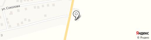 Каскад на карте Опытного