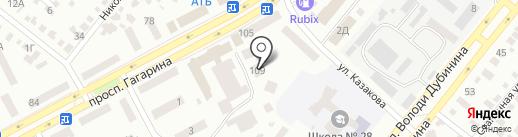 Кафедра на карте Днепропетровска