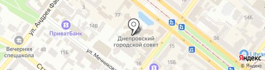 Управління внутрішньої політики Дніпропетровської міської ради на карте Днепропетровска