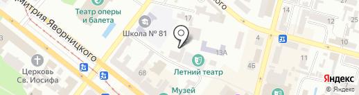 Лагуна на карте Днепропетровска
