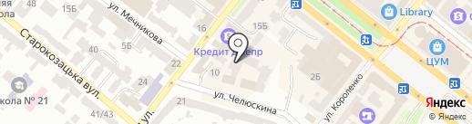 Банкомат, УкрСиббанк на карте Днепропетровска