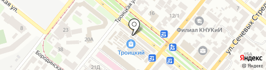 Строительные материалы на карте Днепропетровска