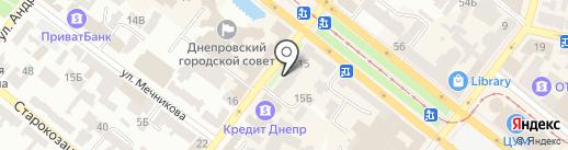Нотариус Резникова Ю.А. на карте Днепропетровска