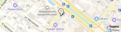 Студия красоты Екатерины Кузиной на карте Днепропетровска
