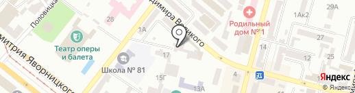 Подружка на карте Днепропетровска