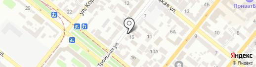 Стерх на карте Днепропетровска
