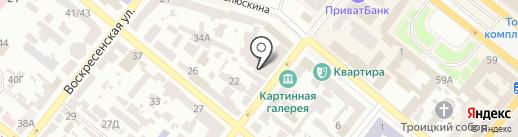 Лоскутница на карте Днепропетровска