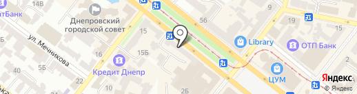 Бесплатка на карте Днепропетровска