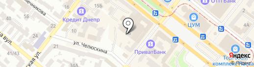 Золотий Вік на карте Днепропетровска