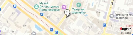 Карандаш на карте Днепропетровска