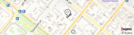 Asham на карте Днепропетровска