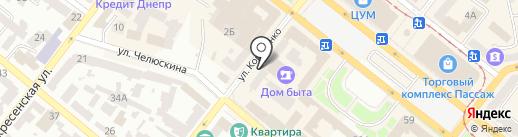 Ремонтная мастерская на карте Днепропетровска