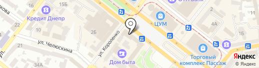 Фабрика MTF на карте Днепропетровска