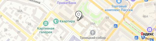 Котенок на карте Днепропетровска