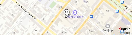Славутич-Тур на карте Днепропетровска