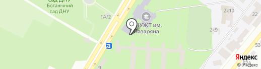 Модерн на карте Днепропетровска