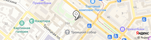 Нотариус Бондаренко В.Г. на карте Днепропетровска
