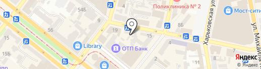 Krasa на карте Днепропетровска