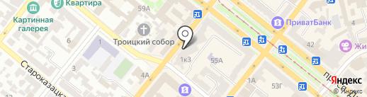 Штрассе на карте Днепропетровска