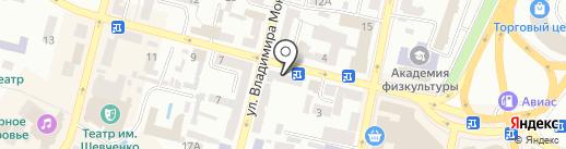 Пилот на карте Днепропетровска