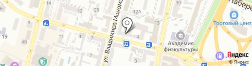 Клиника доктора Бровко на карте Днепропетровска