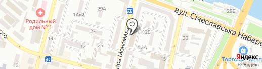 Информ на карте Днепропетровска