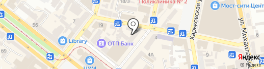 ЯФФО на карте Днепропетровска