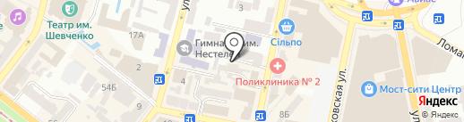 Комфер на карте Днепропетровска