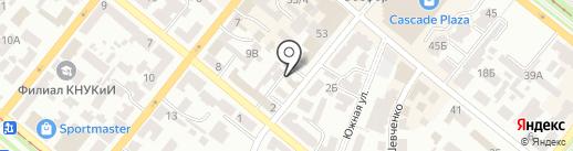 Файно на карте Днепропетровска